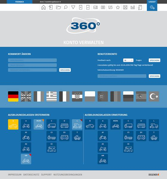 360° online Screenshot