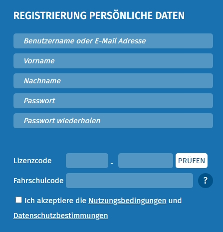 CLICK-LEARN-Registrierung